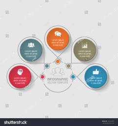 vector infographic template for diagram graph presentation chart business concept with 5 [ 1500 x 1600 Pixel ]