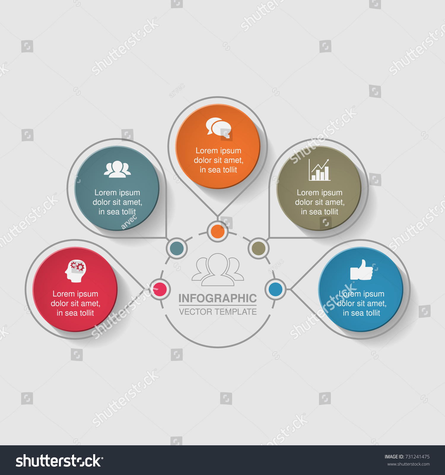 hight resolution of vector infographic template for diagram graph presentation chart business concept with 5