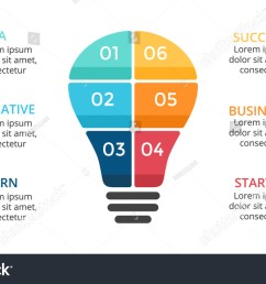 vector light bulb infographic template for diagram graph presentation and layers chart  [ 1500 x 945 Pixel ]