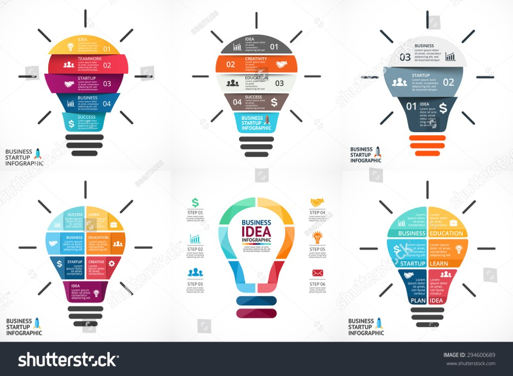 medium resolution of vector light bulb infographic template for growth diagram graph presentation chart