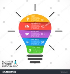 vector light bulb infographic template for lamp diagram graph presentation and round chart [ 1500 x 1600 Pixel ]