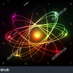 Neon Atom Diagram R33 Rb25 Wiring Vector Molecule Looks Like Plasma Stock