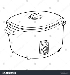 vector of rice cooker  [ 1500 x 1600 Pixel ]