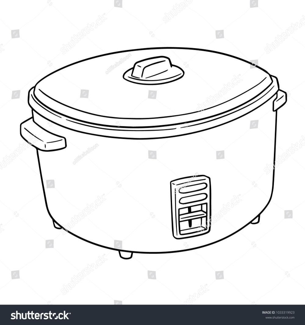 medium resolution of vector of rice cooker