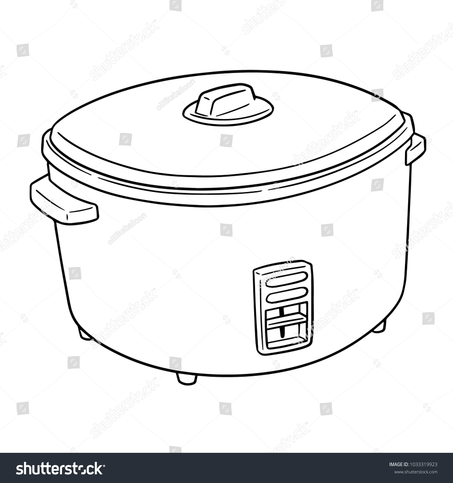hight resolution of vector of rice cooker
