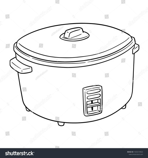 small resolution of vector of rice cooker