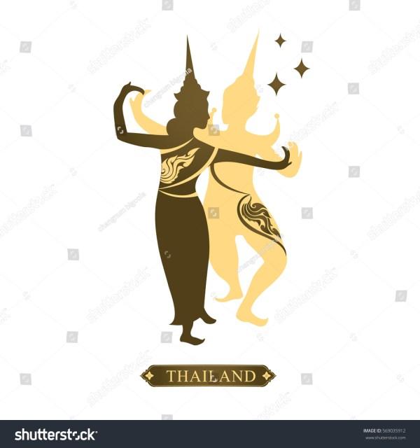 Vector Thai Art Logo Design Man Stock 569035912