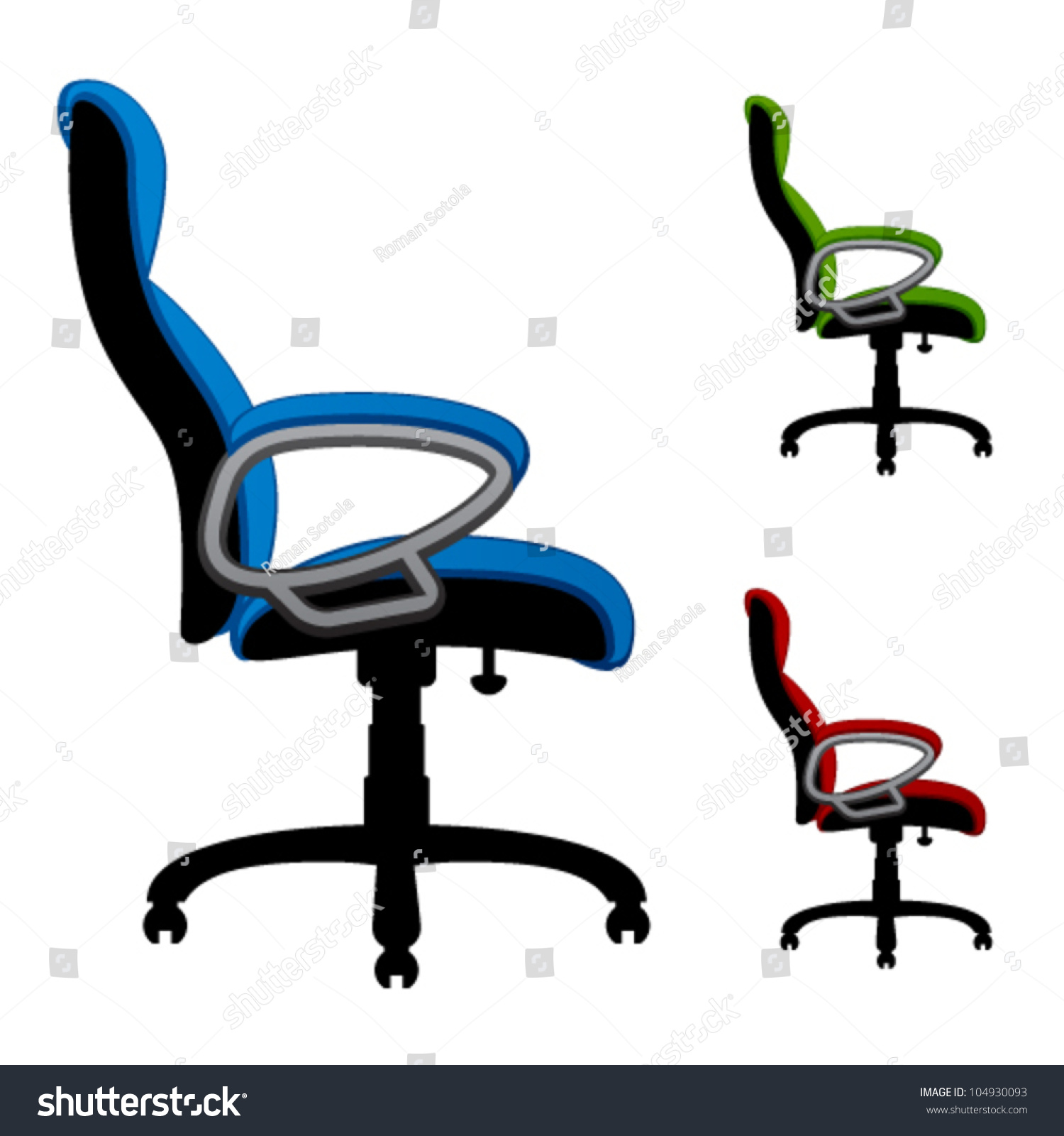 office chair vector baby alive high set chairs 104930093 shutterstock