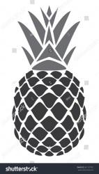 pineapple silhouette vector shutterstock