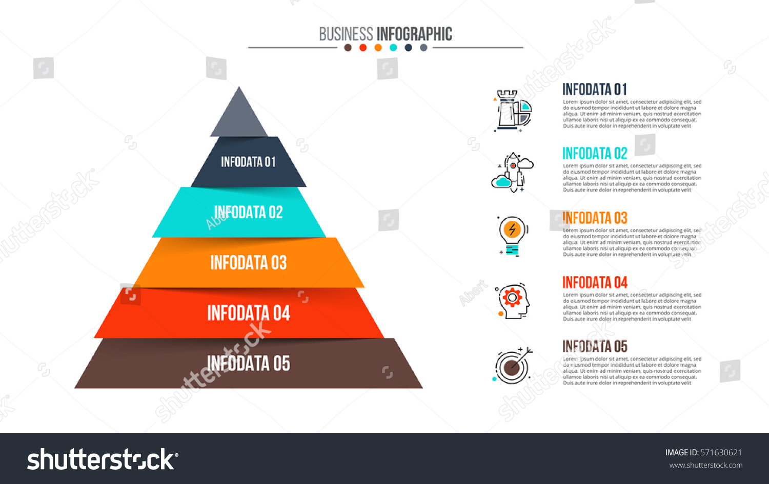 hight resolution of vector pyramid infographic template for diagram graph presentation and chart business concept