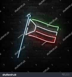 vector realistic isolated neon sign of kuwait flag logo for template decoration and covering on the [ 1500 x 1600 Pixel ]