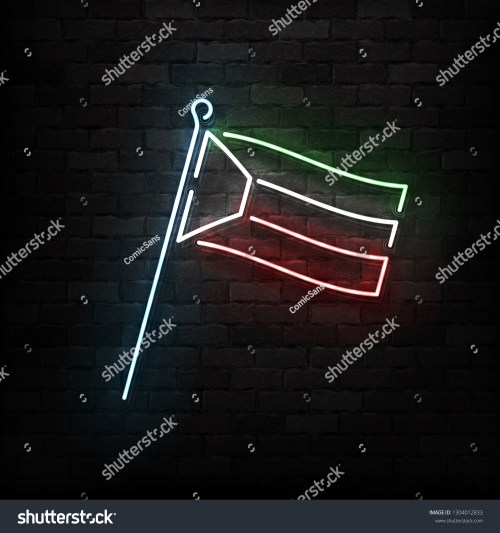 small resolution of vector realistic isolated neon sign of kuwait flag logo for template decoration and covering on the