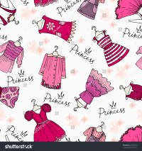 Vector Seamless Pattern Hand Drawn Clothes Stock Vector ...