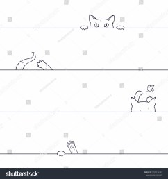 vector seamless pattern with playing cat drawn by hand on a white background cat catches  [ 1500 x 1600 Pixel ]
