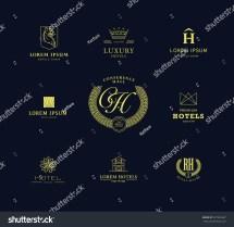Vector Set Flat Simple Hotel Logo Stock 337926287