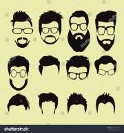 vector set men cartoon hairstyles