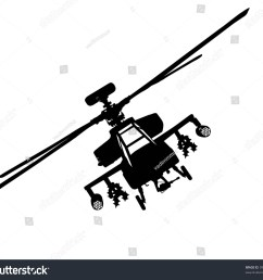 vector silhouette of military helicopter flying front view  [ 1500 x 1369 Pixel ]