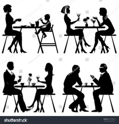 cafe vector silhouettes shutterstock vectors