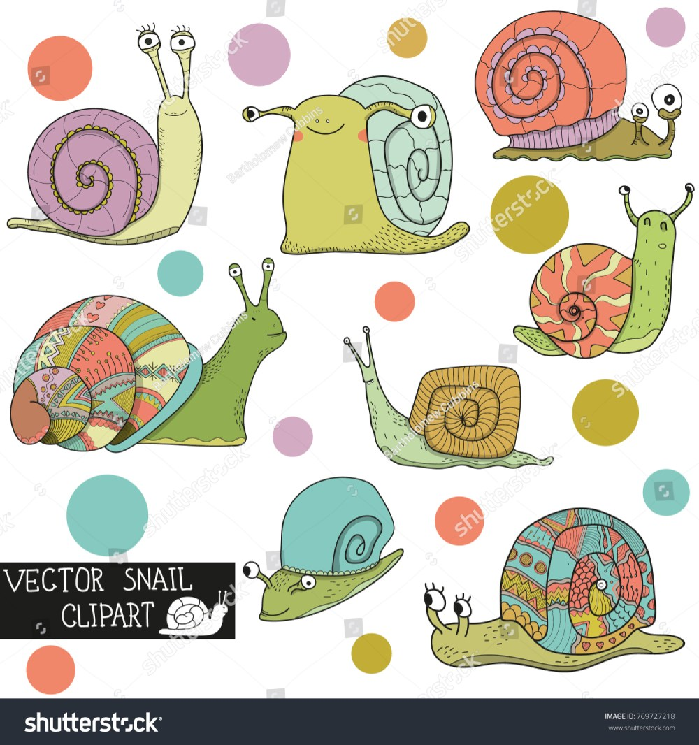 medium resolution of vector snail clipart stock vector royalty free 769727218 shutterstock