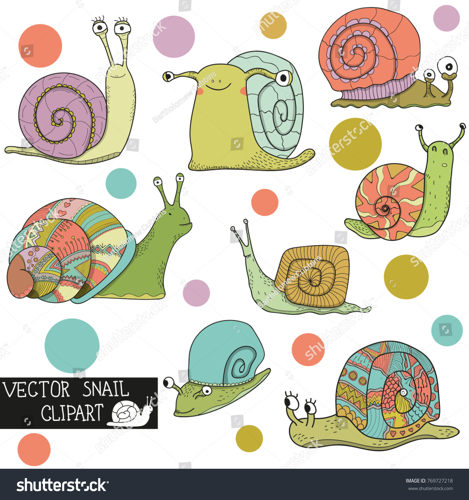 hight resolution of vector snail clipart stock vector royalty free 769727218 shutterstock