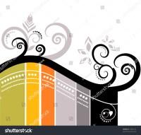 Vector Stripes Wallpaper Design Floral Ornament Stock ...