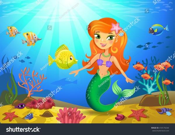 Caribbean Mermaids Illustrations