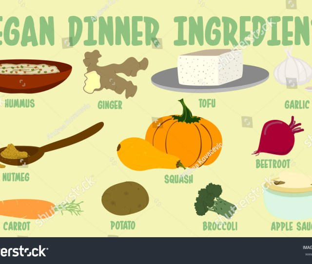Vegan Meal Dinner Ingredients Vegan Thanksgiving Essentials Separate Layers For All Texts And