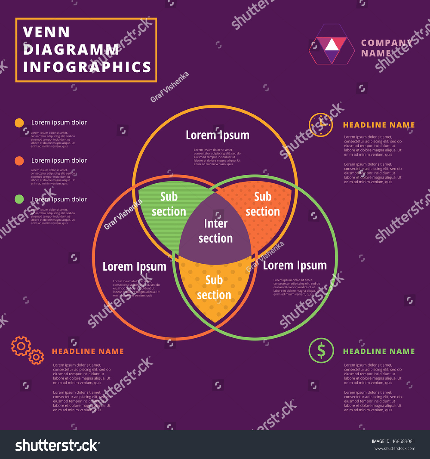 hight resolution of venn diagram vector circles infographics template design overlapping shapes for set or logic graphic