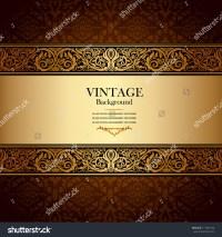 Vintage Background Antique Victorian Gold Ornament Stock