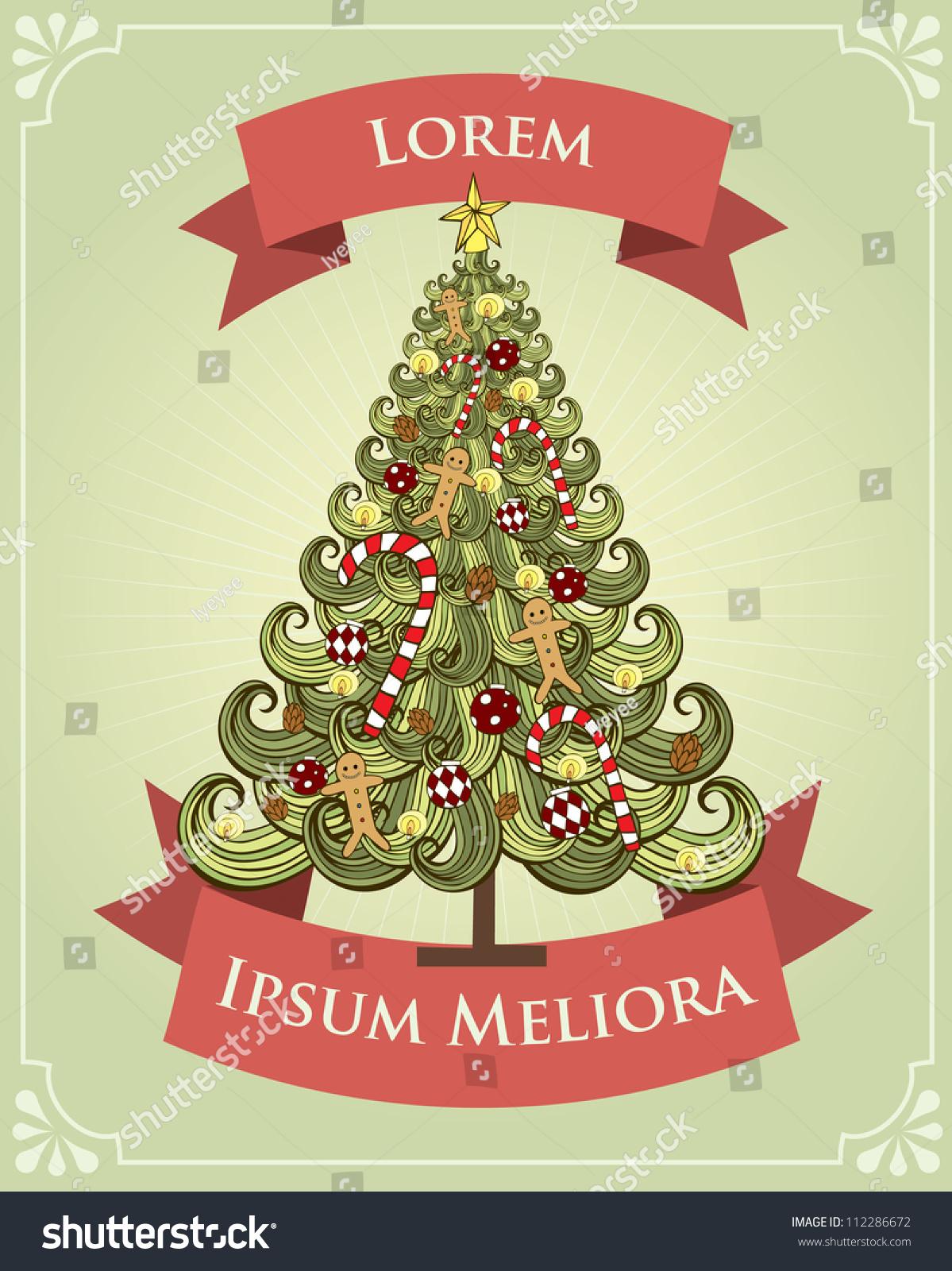 christmas tree drawing template