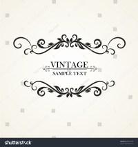 Vintage Floral Frame. Element For Design. Illustration ...