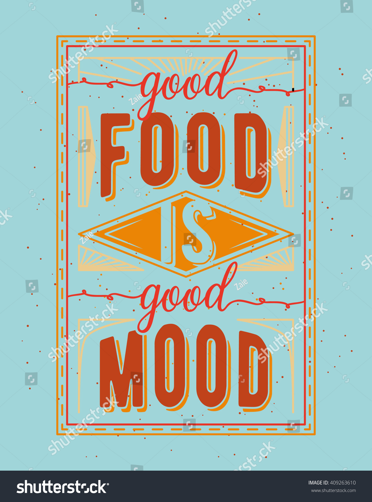 vintage posters for kitchen cabinets to go food related typography quote card stock vector