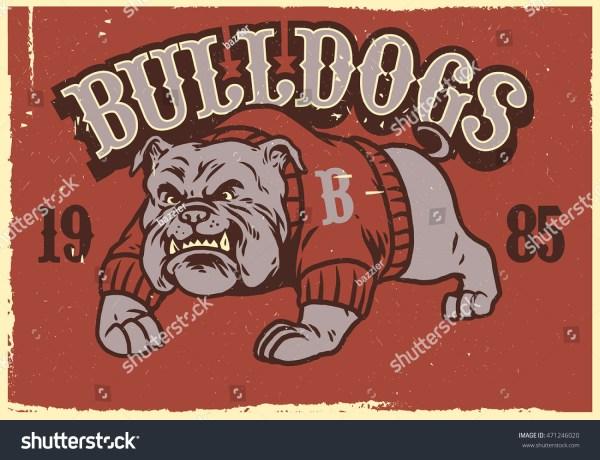 Vintage Mascot Of Bulldog Stock Vector 471246020