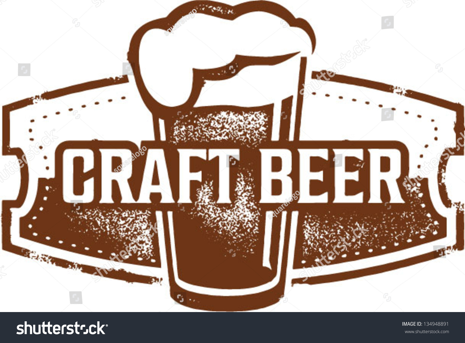 Vintage Style Craft Beer Sign Stock Vector 134948891