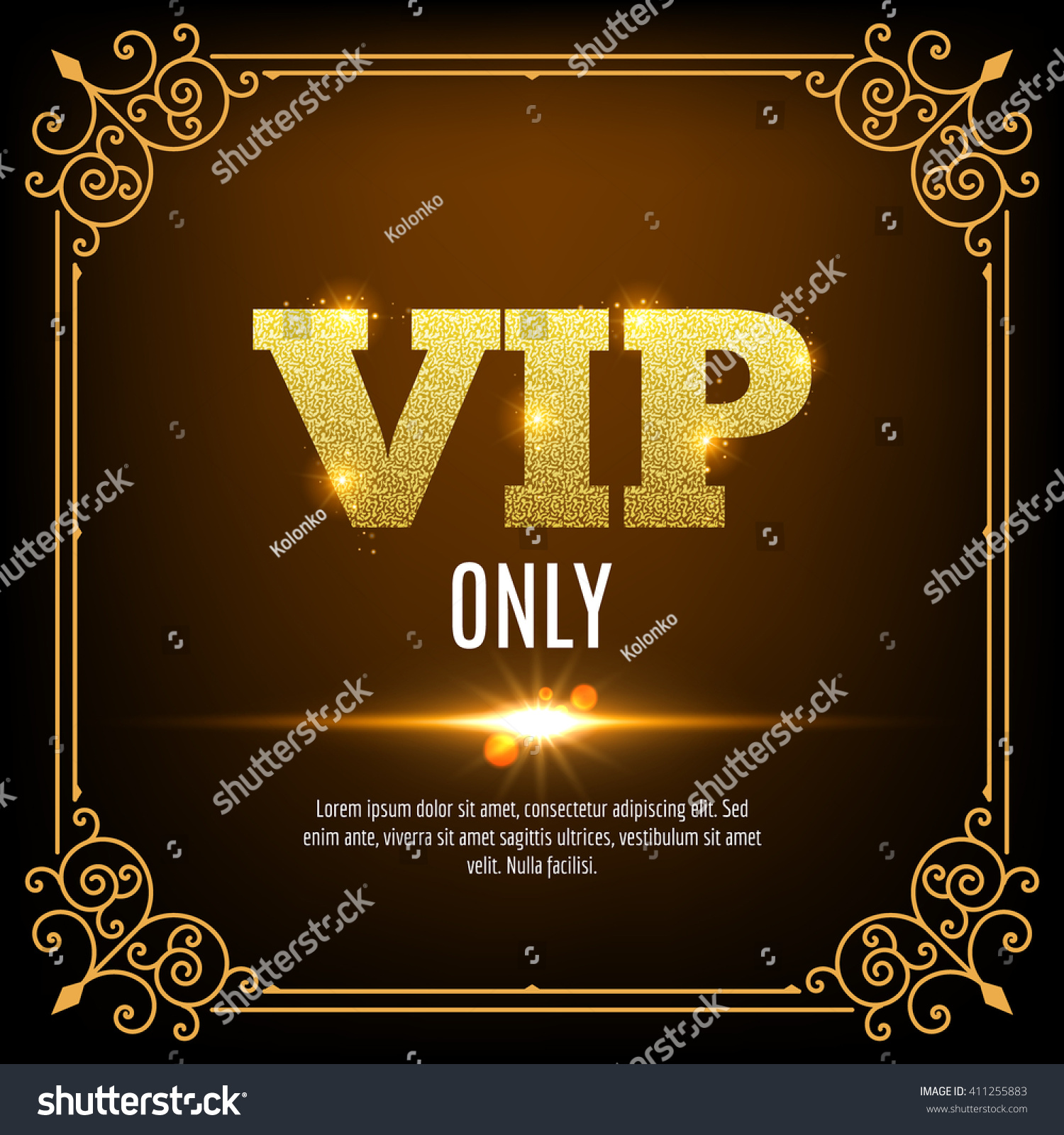 Vip Members Only Vip Persons Background Stock Vector