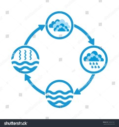 water cycle infographics the water cycle vector diagram of precipitation collection evaporation and condensation icons set vector illustration [ 1500 x 1600 Pixel ]