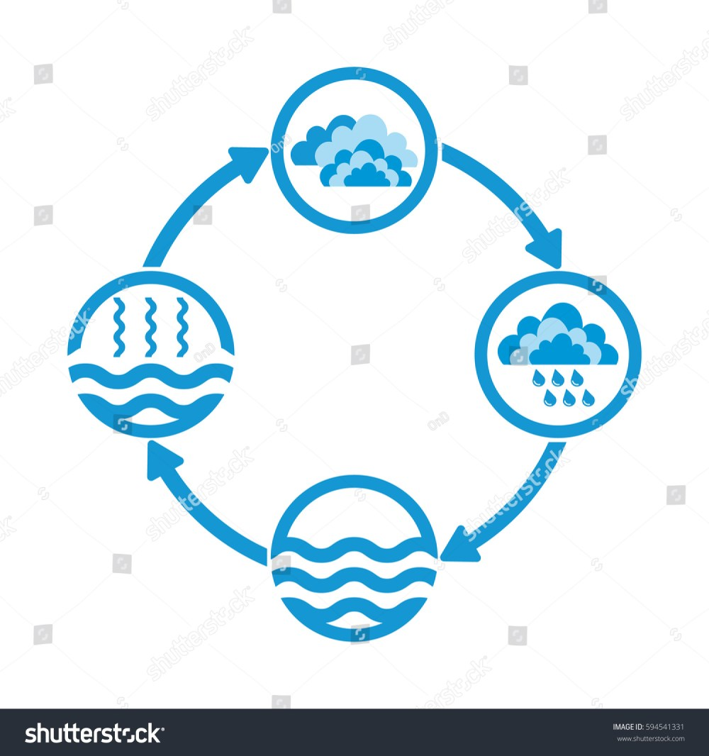 medium resolution of water cycle infographics the water cycle vector diagram of precipitation collection evaporation and condensation icons set vector illustration
