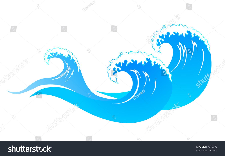 Water Wave Stock Vector Illustration 57010772 : Shutterstock