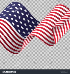 waving american flag on transparent background patriotic holidays suitable independence day memorial day [ 1500 x 1600 Pixel ]