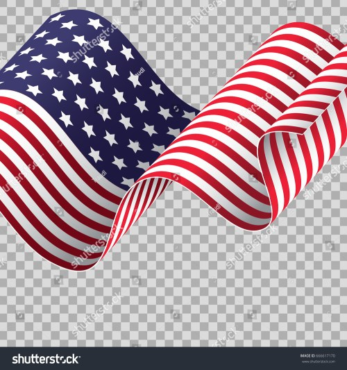 small resolution of waving american flag on transparent background patriotic holidays suitable independence day memorial day