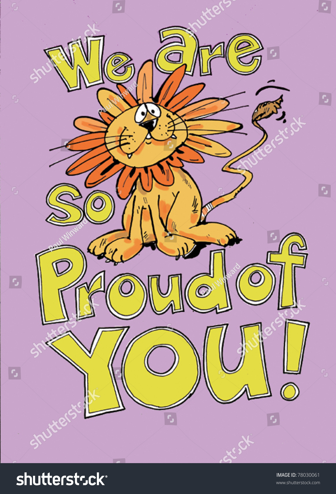 We Are So Proud Of You! Stock Vector Illustration 78030061 : Shutterstock