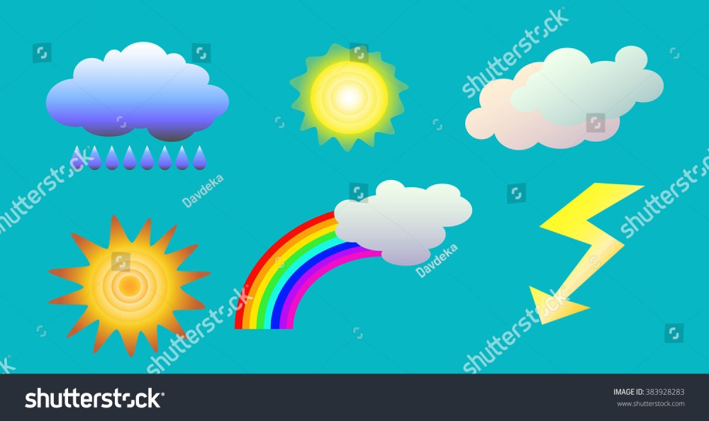 medium resolution of weather elements vector illustrations weather clipart sky object vector icon isolated sky objects