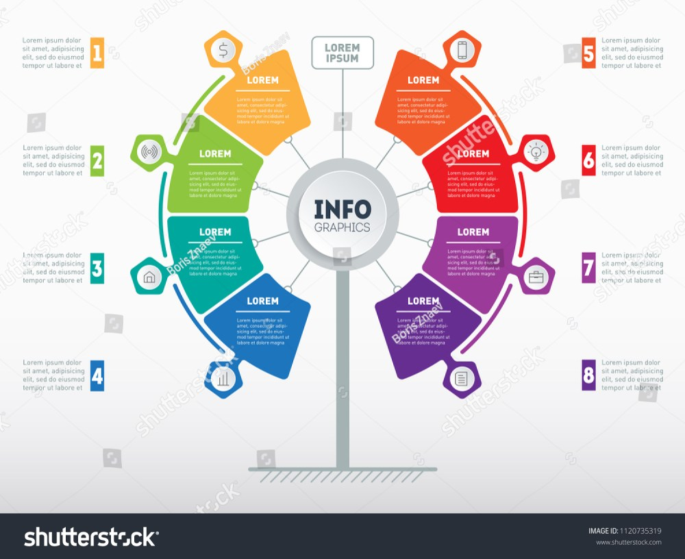 medium resolution of web template of service tree info chart or diagram vector infographic of technology or