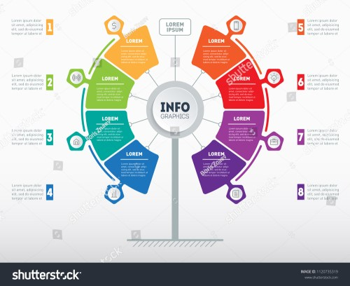 small resolution of web template of service tree info chart or diagram vector infographic of technology or
