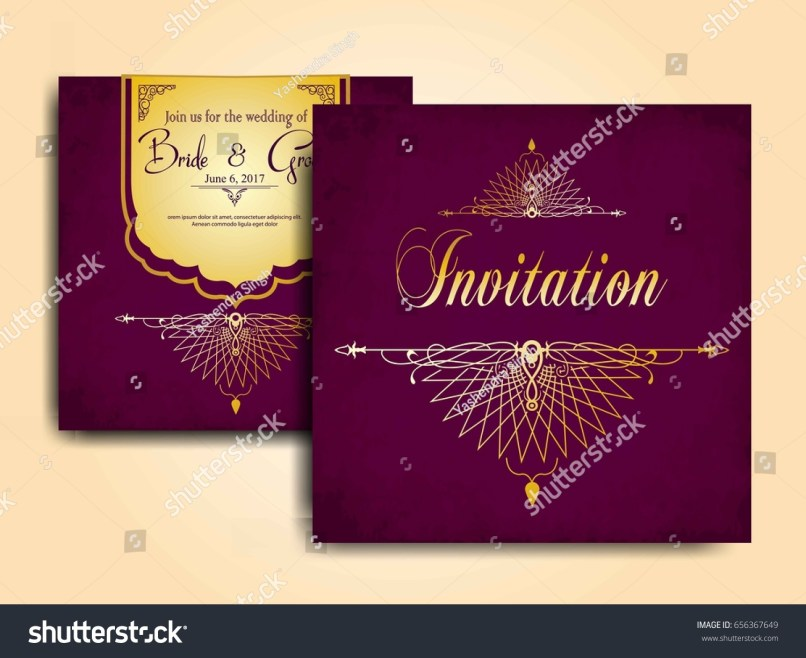 Muslim wedding invitation cards vector inviview wedding invitation card muslim community stock vector 656367649 stopboris Gallery
