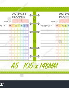 Weekly activities planner template organization chart daily routine check list notebook page insert also stock vector rh shutterstock