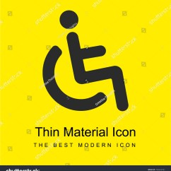 Yellow Wheelchair Ejection Seat Office Chair Accessible Sign Bright Material Stock Vector Minimal Icon Or Logo Design