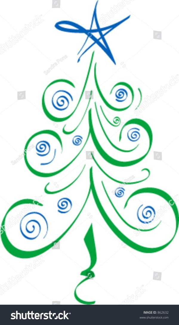 whimsical christmas tree stock