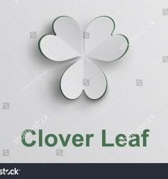 white clover leaf in paper cut [ 1500 x 1126 Pixel ]