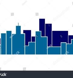 wide skyline blue vector graphic [ 1500 x 1054 Pixel ]